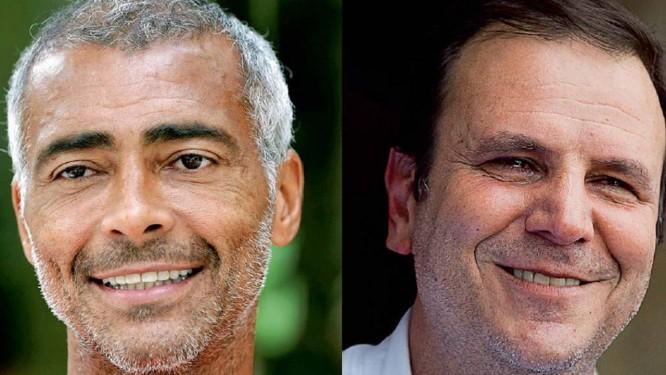 Romário e Eduardo Paes Foto: Márcio Alves/Barbara Lopes / Agência O Globo