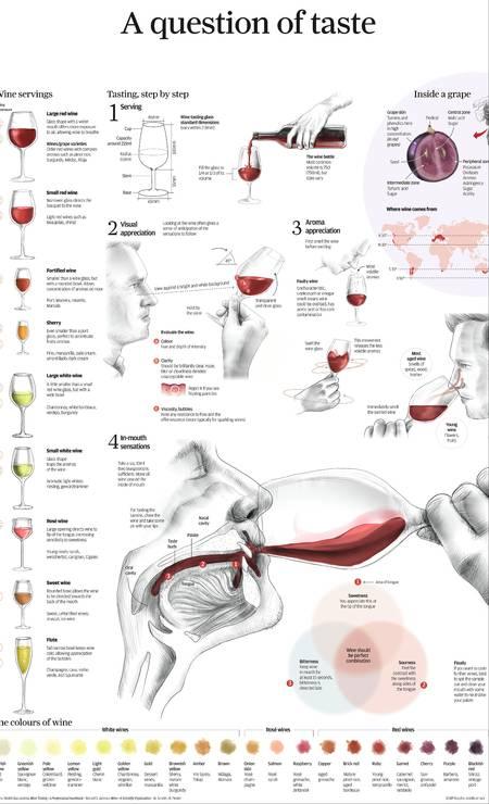 A degustação, o serviço, o que há dentro da uva: tudo sobre vinhos Foto: Adolfo Arranz/Divulgação Taschen / SCMP Graphic and other source / Divulgação Taschen