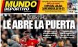 Mourinho e Pogba na manchete do diário 'Mundo Deportivo' Foto: Reprodução