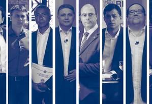 Candidatos ao governo do Rio de Janeiro Foto: Agência O Globo
