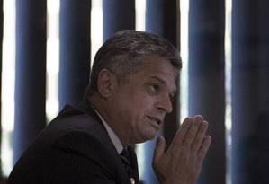 O deputado federal João Rodrigues, durante entrevista Foto: Daniel Marenco/Agência O Globo/11-06-2018
