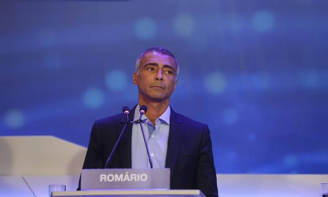 Romário (Podemos) Foto: Marcio Alves / Agência O Globo