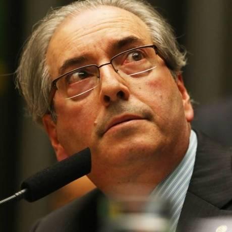 Cunha durante sessão na Câmara/ 03-02-2016 Foto: Ailton de Freitas / Foto: Aílton de Freitas/ Agência O Globo