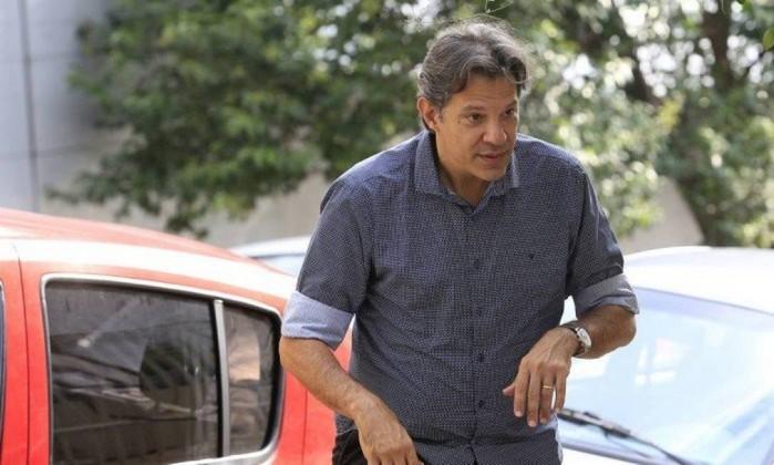 O ex-prefeito de São Paulo, Fernando Haddad Foto: Edilson Dantas / Agência O Globo