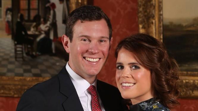Princesa Eugenie e o noivo, Jack Brooksbank, em foto oficial Foto: WPA Pool / Getty Images