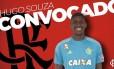 Hugo Souza, goleiro sub-20 do Flamengo, foi chamado por Tite Foto: Reprodução