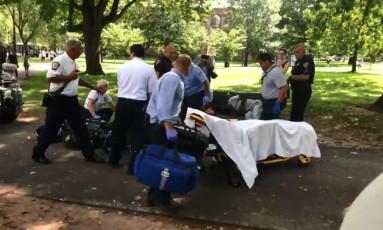 Pelo menos 80 pessoas tiveram overdose após consumirem maconha sintética distribuída em parque nos Estados Unidos Foto: Facebook/Reprodução
