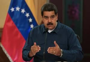 Presidente venezuelano, Nicolás Maduro. Governo investiga atentado realizado no início do mês Foto: HANDOUT / REUTERS