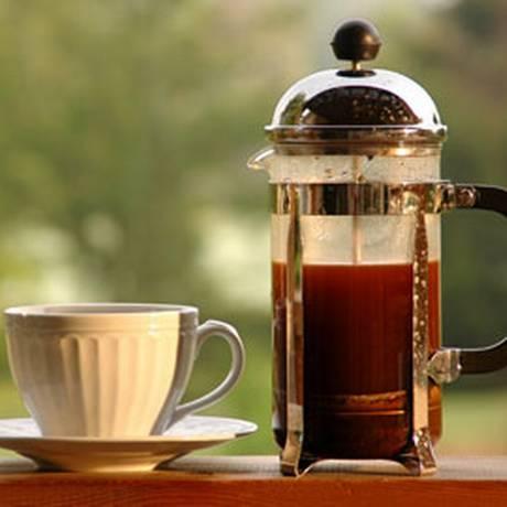 Prensa francesa oferece um café equilibrado como o coado Foto: Divulgação