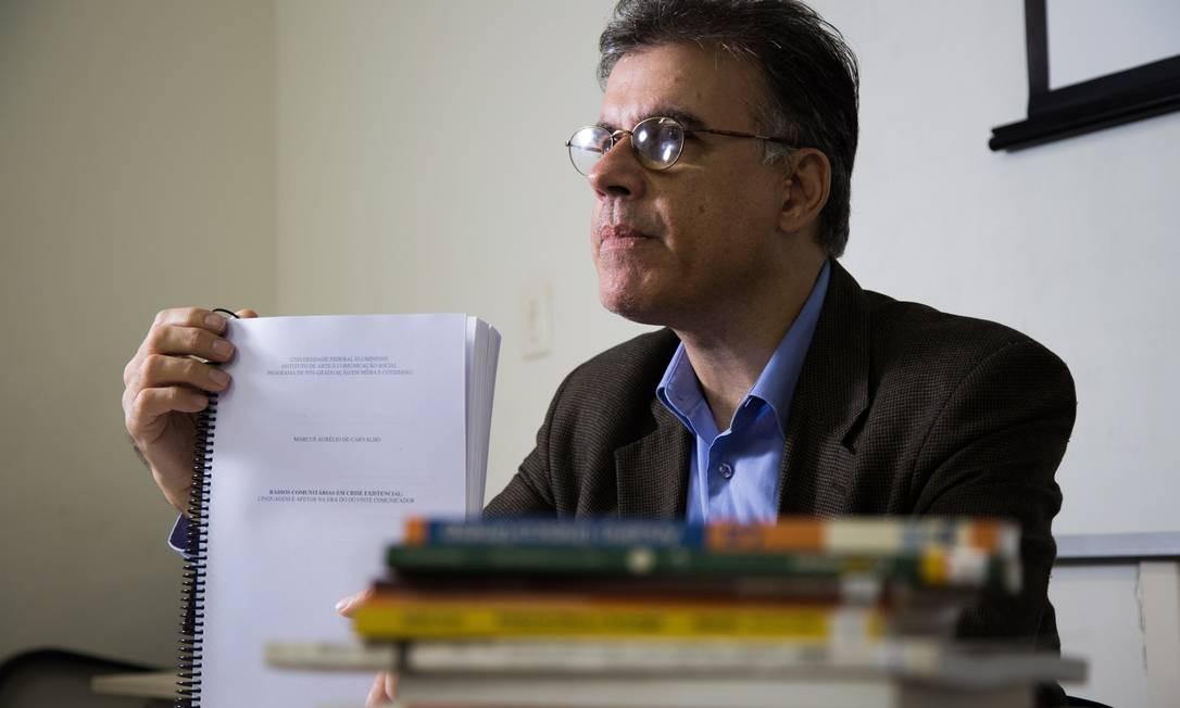 Marcus Aurélio apresenta sua dissertação de mestrado Foto: Emily Almeida