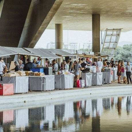 Oferta saudável. O evento é montado na área externa da Cidade das Artes. Foto: Samuel Antonini / Divulgação