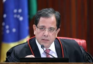 O ministro Sérgio Banhos, durante sessão plenária do TSE Foto: Roberto Jayme/TSE/17-05-2018