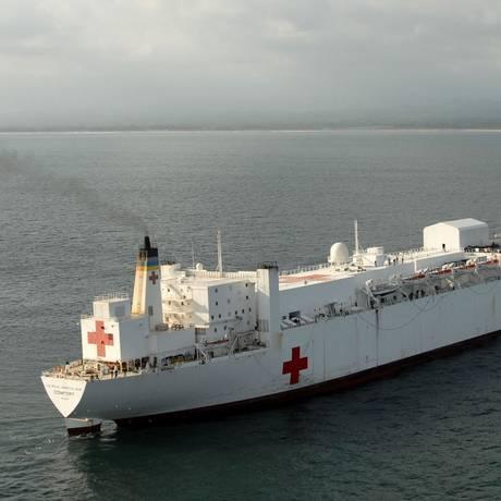 O USNS Comfort será enviado para a costa colombiana Foto: U.S. Navy