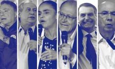 Candidatos ao Planalto Foto: Agência O Globo