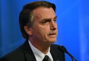 O presidente eleito Jair Bolsonaro Foto: NELSON ALMEIDA / AFP