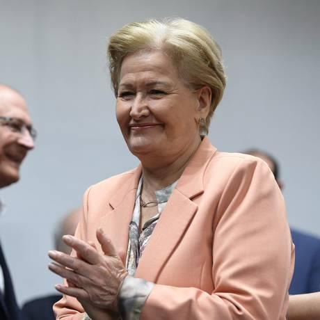 Senadora gaúcha também elogiou o desempenho de Alckmin no segundo debate presidencial Foto: Ailton de Freitas / Agência O Globo