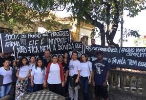 Amigos e familiares de William Preciliano Foto: Ricardo Ferreira