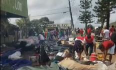 Tumulto foi registrado neste sábado em Pacaraima Foto: Reprodução/GloboNews
