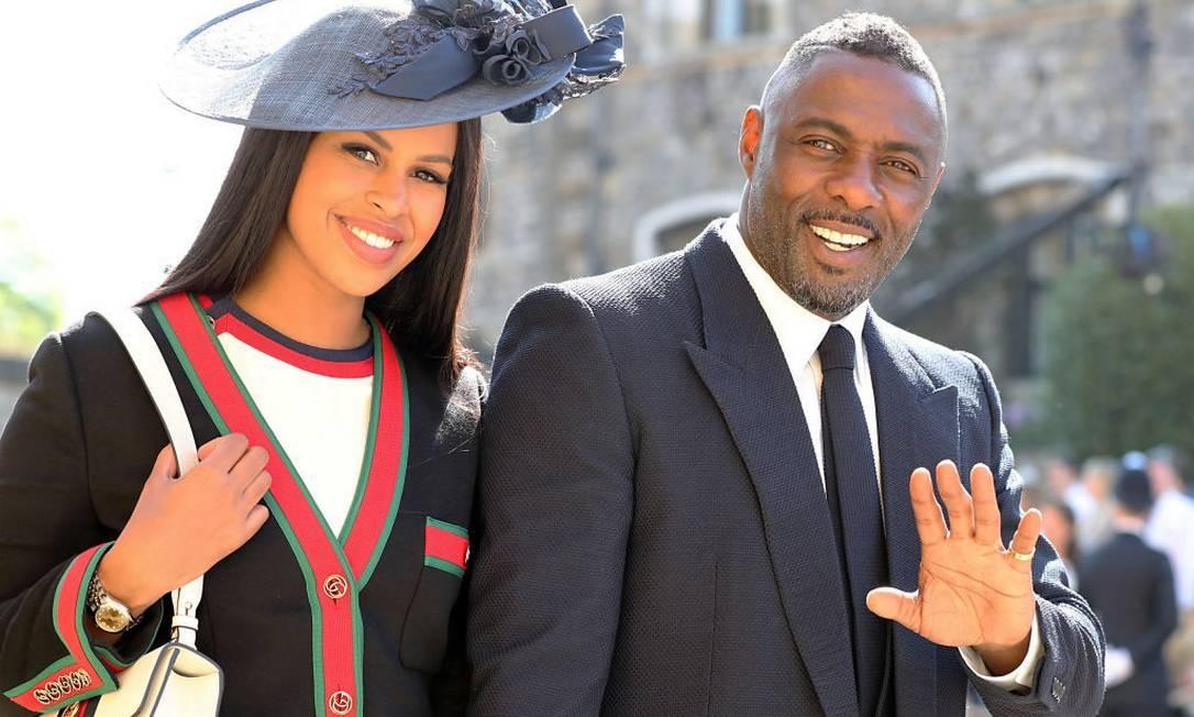 Idris Elba e Sabrina Dhowre no casamento de Harry e Meghan Foto: WPA Pool / Getty Images