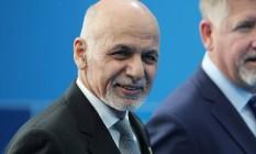 O presidente afegão, Ashraf Ghani, anuncia novo cessar-fogo a partir desta segunda-feira Foto: POOL/AFP/Arquivos / Tatyana ZENKOVICH