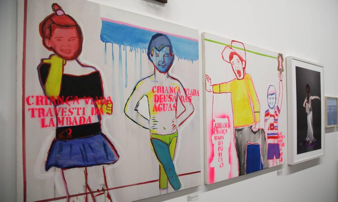 """Obra da exposição """"Queer museu"""", em cartaz no Parque Lage Foto: Barbara Lopes / Agência O Globo"""