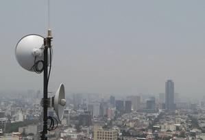 Divulgação. Antena usada em redes apropriadas para Internet das Coisas. Sigfox/Divulgação