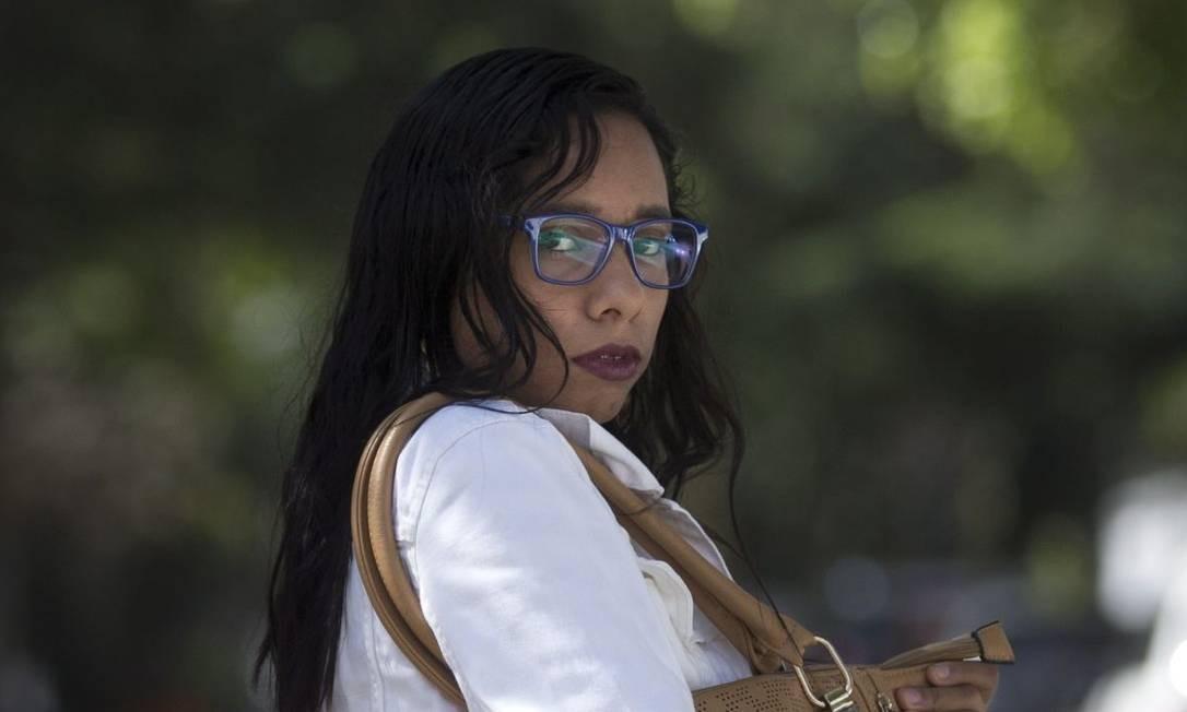 Vítima. Gisele Marinho teve a bolsa roubada, mas tinha seguro. Ficou satisfeita e refez a apólice Foto: Márcia Foletto / Agência O Globo