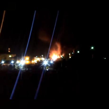 Incêndio na Replan assustou moradores de Paulínia, no interior de São Paulo Foto: Facebook/Reprodução