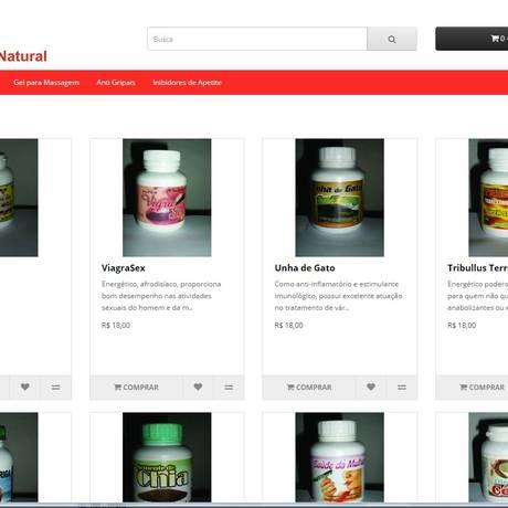 Site da empresa: segundo a Anvisa, falta autorização de funcionamento Foto: Reprodução/Internet