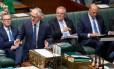 O primeiro-ministro da Austrália, Malcolm Turnbull, cedeu à pressão política e removeu metas de redução de gases-estufa de plano energético Foto: SEAN DAVEY / AFP