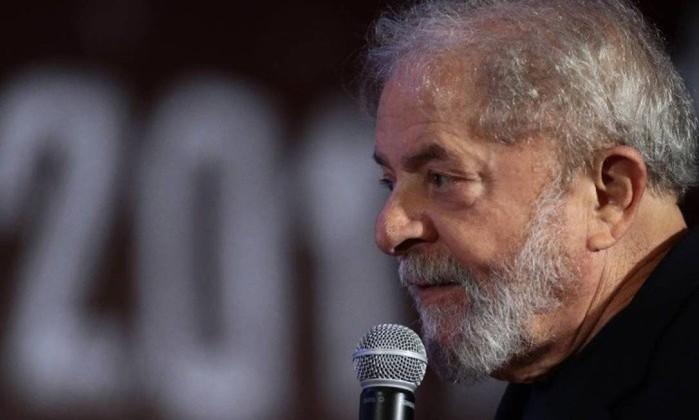 O ex-presidente Lula, candidato do PT ao Planalto em 2018 Foto: Jorge William / Agência O Globo