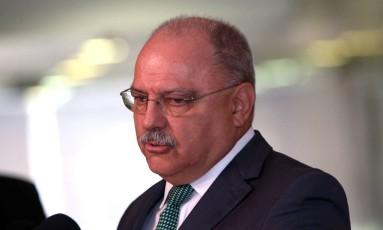 O ministro do Gabinete de Segurança Institucional (GSI), Sérgio Etchegoyen, durante entrevista no Planalto Foto: Givaldo Barbosa / Agência O Globo