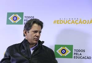 O candidato a vice do PT, Fernando Haddad Foto: Edilson Dantas / Agência O Globo