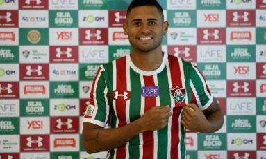 Kayke foi apresentado pelo Fluminense nesta segunda-feira Foto: Lucas Merçon / Fluminense