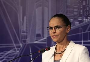 Marina Silva participa de evento com presidenciáveis em São Paulo Foto: Edilson Dantas / Agência O Globo
