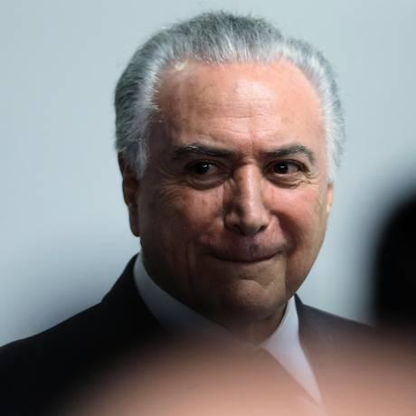 O presidente Michel Temer, durante reunião no Palácio do Planalto Foto: Jorge William / Agência O Globo