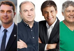Candidatos ao Senado pelo Rio estão tecnicamente empatados Foto: Montagem Editoria de Arte