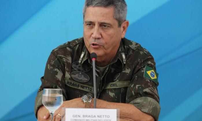 Interventor garante que morte de militares não irá desanimar combate à criminalidade do Rio Foto: Ailton de Freitas / Ailton Freitas