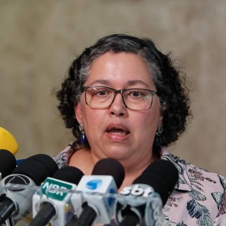 A presidente do Ibama, Suely Guimarães, durante entrevista, após reunião no Planalto Foto: Clauber Cleber Caetano/Presidência