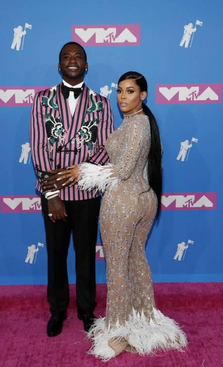 O casal Gucci Mane and Keyshia Ka'Oir Foto: ANDREW KELLY / REUTERS