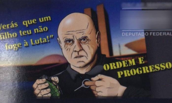 Material de campanha do empresário Oscar Maroni (Pros-SP) Foto: Divulgação