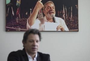 São Paulo ( SP ) 09/08/2018 Fernando Haddad , ex-prefeito de São Paulo e vice de Lula pelo PT Foto: Edilson Dantas / Agência O Globo