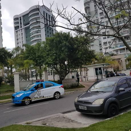 Corretora de imóveis foi assassinada em frente ao condomínio Sunprime, na Barra da Tijuca Foto: Arquivo / 15/08/2018 / Marcos Nunes / Agência O Globo