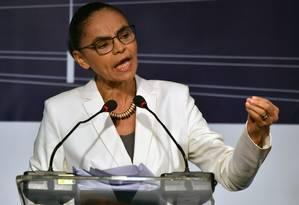 Marina Silva participa de evento com presidenciáveis em São Paulo Foto: Nelson Almeida/AFP/20-08-2018