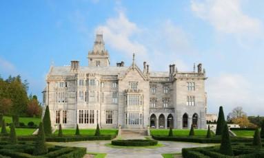 Hotel Adare Manor, em Limerick, na Irlanda, eleito hotel do ano pela rede Virtuoso Foto: Divulgação
