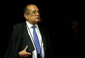 O ministro Gilmar Mendes, durante sessão da Segunda Turma do STF Foto: Jorge William / Agência O Globo
