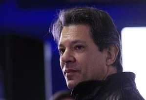 O candidato a vice na chapa de Lula, o ex-prefeito Fernando Haddad (PT) 16/08/2018 Foto: Edilson Dantas / Agência O Globo