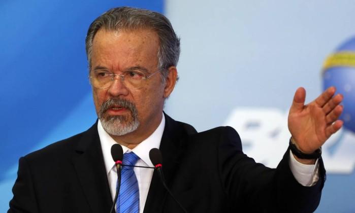 O ministro da Segurança Pública Raul Jungmann Foto: Givaldo Barbosa / Agência O Globo