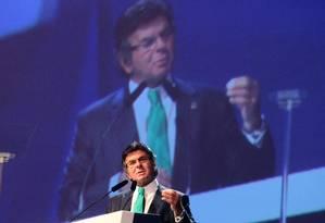 O ministro Luiz Fux, do STF, participa do Congresso Brasileiro de Rádiodifusão Foto: Jorge William / Agência O Globo