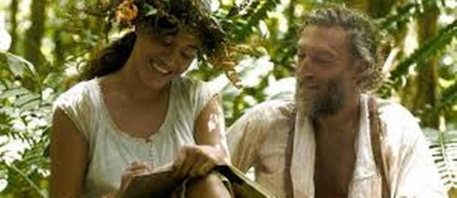 Um Gauguin intenso. Tuheï Adams e Vincent Cassel: filme de ator Foto: Divulgação